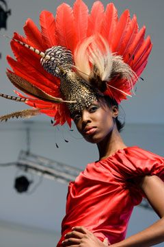 Feather Hat Milliner Philip Treacy at Selfridges (Vogue.com UK)