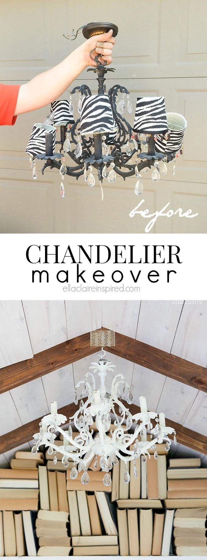 131 best lighting images on pinterest craft ideas ball lights and diy chandelier makeover chandelier makeoverdiy chandelierantique chandelierchandeliersgirls bedroombig girl bedroomscottage styleeasy diylight fixtures arubaitofo Gallery