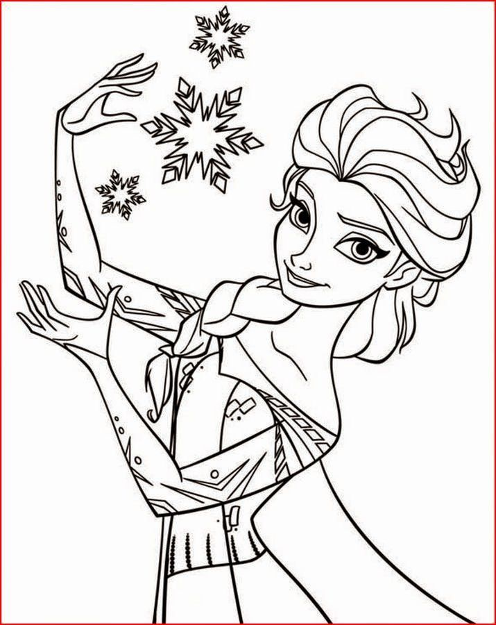 24 Free Elsa Coloring Page Princess Coloring Pages Snowflake