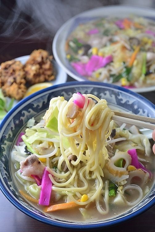 Champon noodle soup from Nagasaki, Japan ちゃんぽん