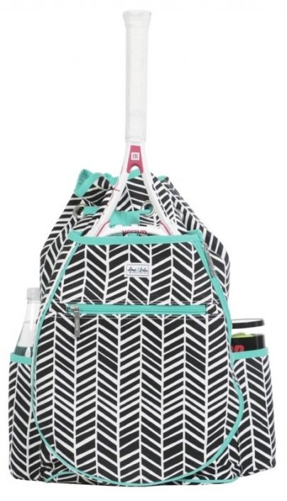 Black Shutters Ame & Lulu Ladies Kingsley Tennis Backpack! More stylish ladies tennis bags at #lorisgolfshoppe