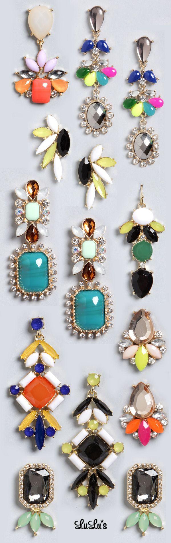 Coral Rhinestone Earrings