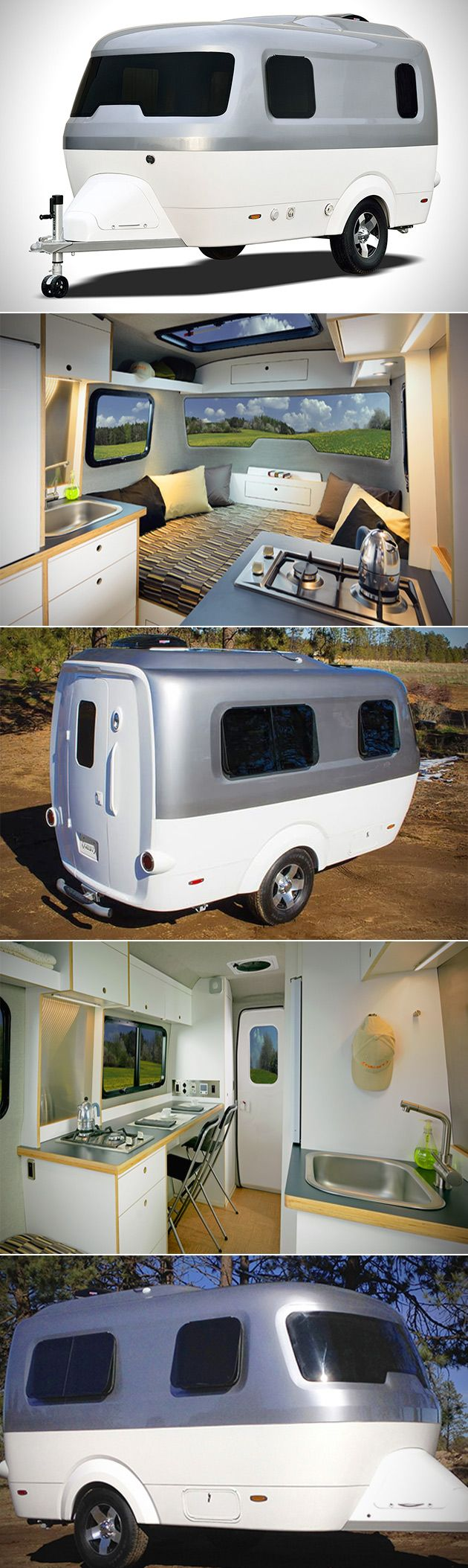 airstream nest | Airstream Nest Has a Kitchen, Work Area, Bed and is Literally a Tiny ...