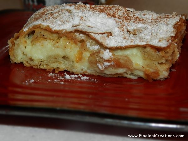 bougatsa, mpougatsa, bougatsa Thessalonikis, Thessaloniki, bougatsa me krema, krema, bougatsa custard, custard, pie, pitaFood Stuff, Custard Pies, Custards Pies, Greek Sweets Cak, Greek Stuff, Bougatsa Custards, Bougatsa Thessaloniki