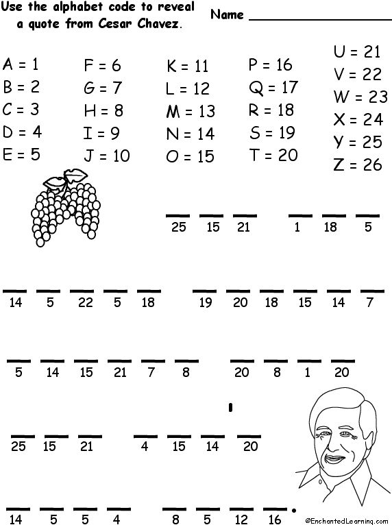Worksheets Cesar Chavez Worksheet 1000 images about cesar chavez si se puede on pinterest diego alphabet code use the to figure out quote from you are never strong enough that you