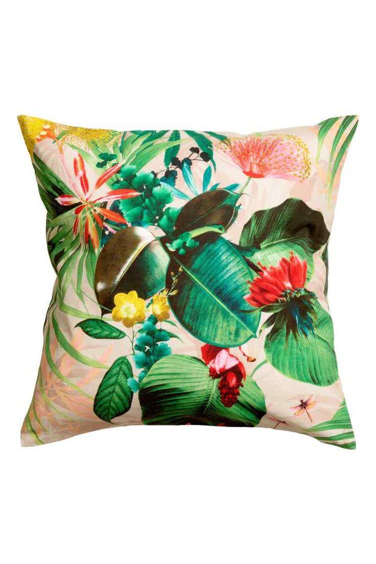 Tkaný povlak na polštářek  - Světle růžová/květovaná - HOME | H&M CZ 1