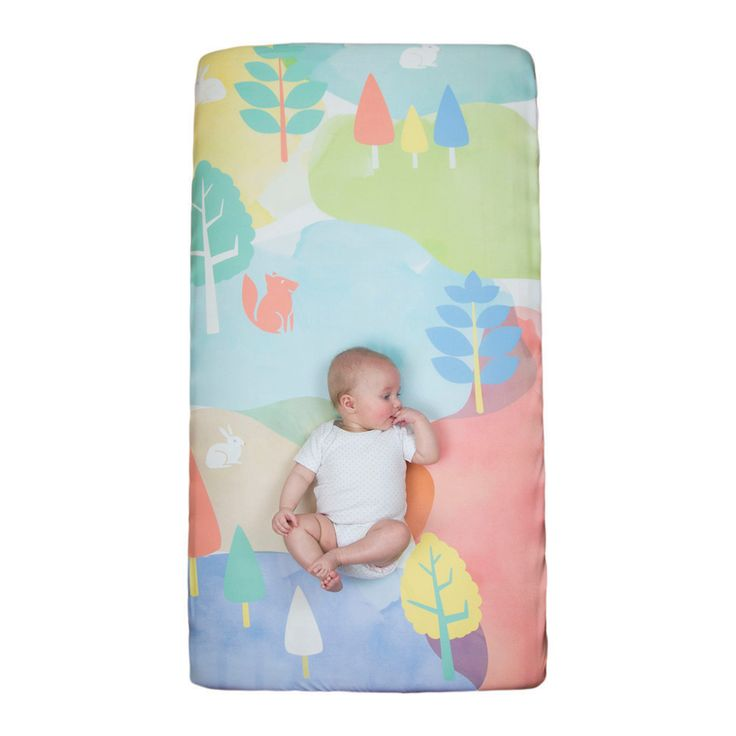 WOW Cot fitted sheet  - Watercolour Woods