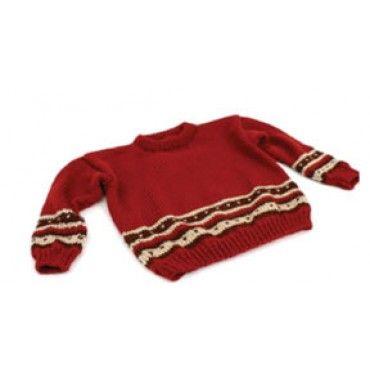 Mary Maxim - Free Boy's Fair Isle Sweater Knit Pattern - Free Patterns - Patterns & Books