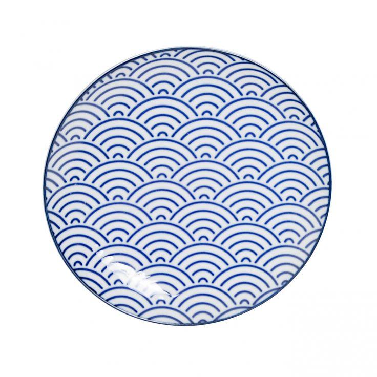 Nippon Blue Bord met golfpatroon - blauw / The Oriental Shop