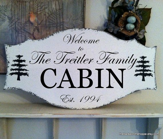 FAMILY CABIN SIGN Custom Signs Personalized by thebackporchshoppe, $67.95