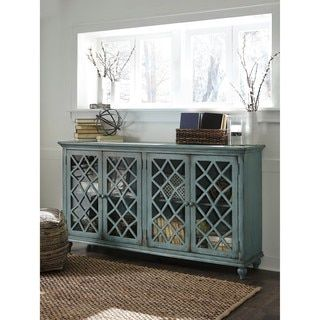 Shop for Signature Design by Ashley Mirimyn Antique Teal Accent Cabinet Credenza. Get free shipping at Overstock.com - Your Online Furniture Outlet Store! Get 5% in rewards with Club O! - 20154961