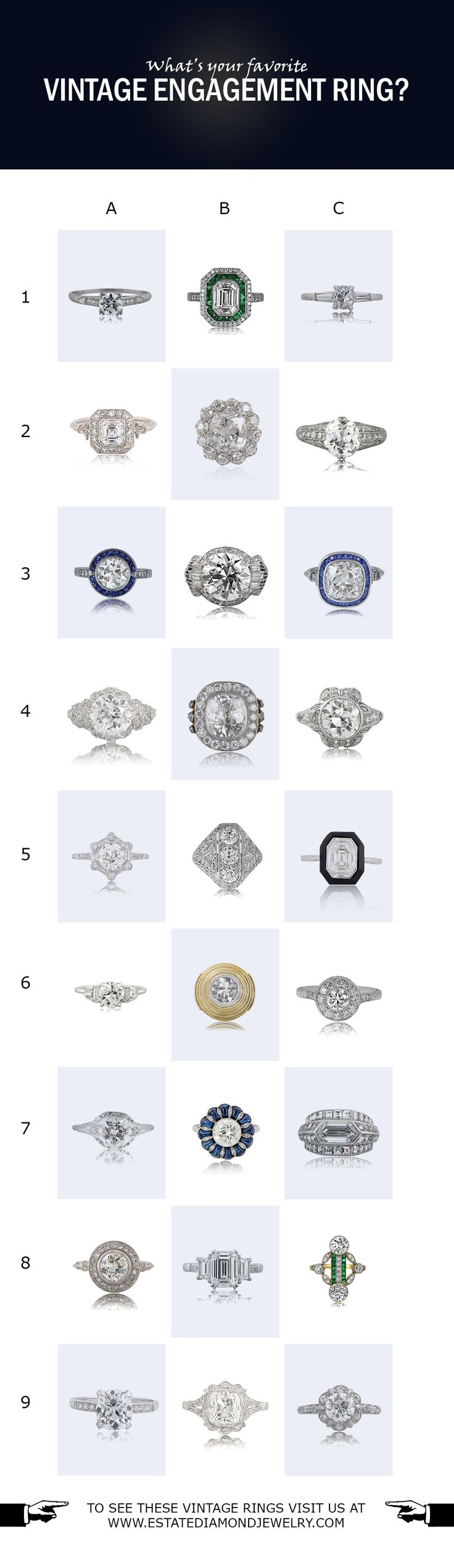 What's your favorite Vintage Engagement Ring? Tell us in the comments below.