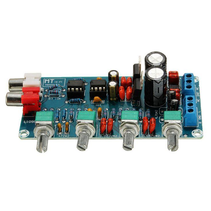New Arrival NE5532 OP-AMP HIFI Amplifier Preamplifier Volume Tone EQ Control Board DIY Kits #Affiliate