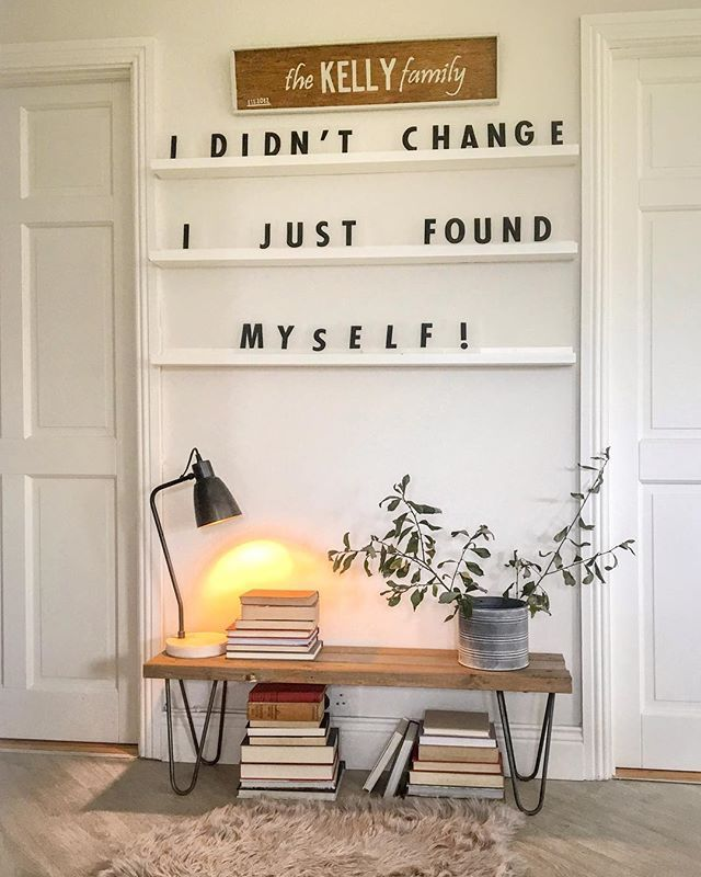 I Didn T Change Typography Wioleta Kelly Wioleta Kelly Instagram Photos And Videos Home Decor Inspirational Quote Decor Dorm Storage Diy