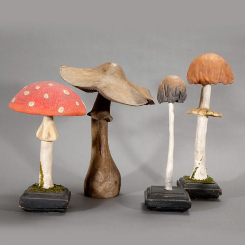 I can't take it!!! I need these!!!!                 painted wooden mushrooms