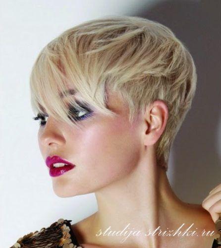 Стильная женская стрижка на короткие волосы