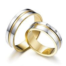 Noble Harmony – an interesting pattern of two-color rings with diamonds
