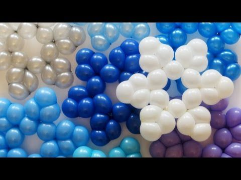 How to make a snowflake from owe 260 balloon. Expand it, inflate on 52 cm, and do 24 bubbles of 3.5 cm each. Good luck! :)