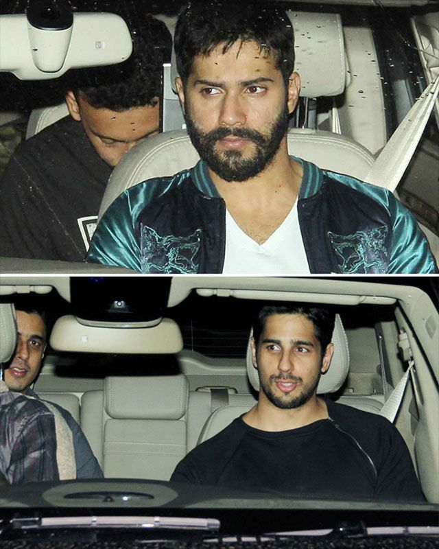 Here comes Sidharth Malhotra and Varun Dhawan. Varun sported this look from his upcoming movie, Badlapur.