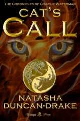 Cat's Call (The Charlie Waterman Chronicles 1) by Natasha Duncan-Drake.  Existence is a Balance. Multiple universes and myriads of worlds exist in their own time and space. Seven great Spirits guard the Balance against the forces of evil and chaos. It is time for them to choose new Questors to wield their power.  Charlie Waterman is eighteen and until he is assaulted by a cat figurine and wakes up with a tail, he is boringly normal. He is the Questor of the Cat Spirit.