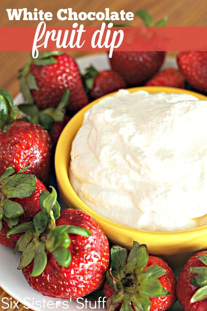 White Chocolate Pudding Fruit Dip Recipe on MyRecipeMagic.com