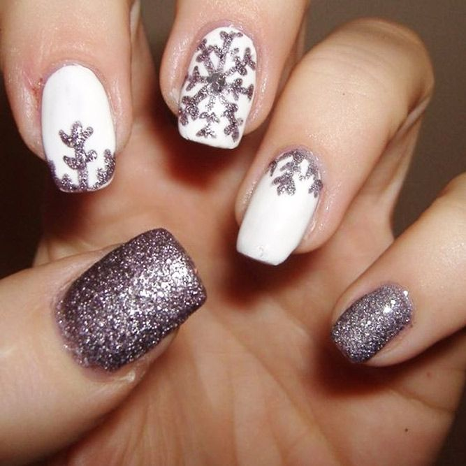 Christmas Nail Art Designs with Themed Ornaments ★ See more: http://glaminati.com/christmas-nail-art-designs/