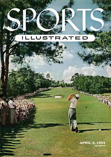 Golf The Masters Rear view of Ben Hogan in action drive from tee on No 8 during Sunday playoff vs Sam Snead at Augusta National Augusta GA 4/11/1954...