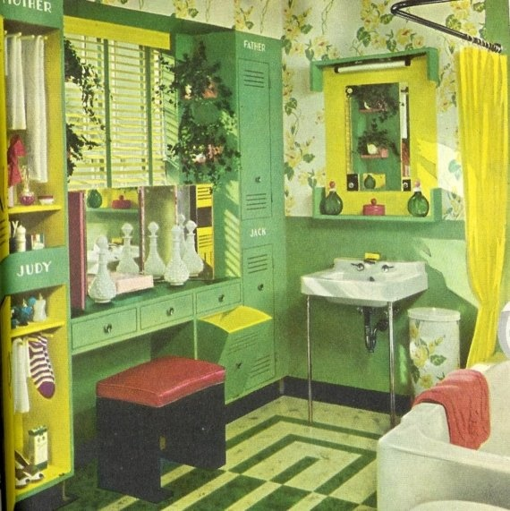 211 best images about bathrooms on pinterest 1950s for 1940s bathroom decor