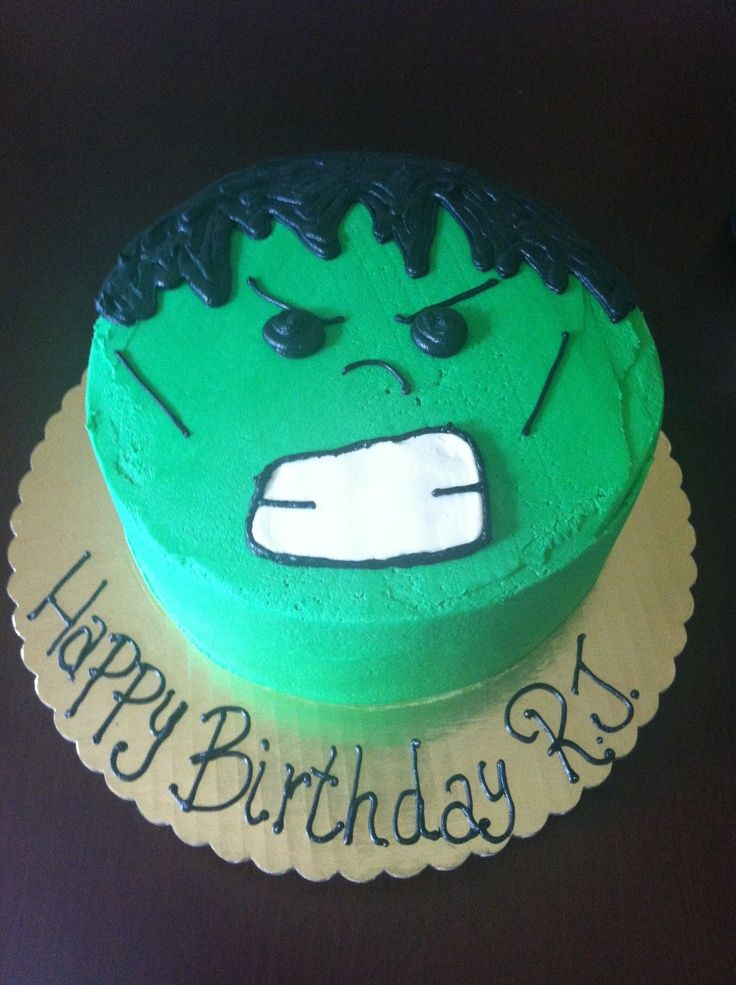 incredible hulk cake - Google Search