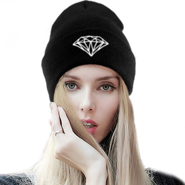 Winter Diamond hat VOGUE beanie women bad hair day knit ski skullies,2015 crochet female bonnet casquette,gorros de lana mujer