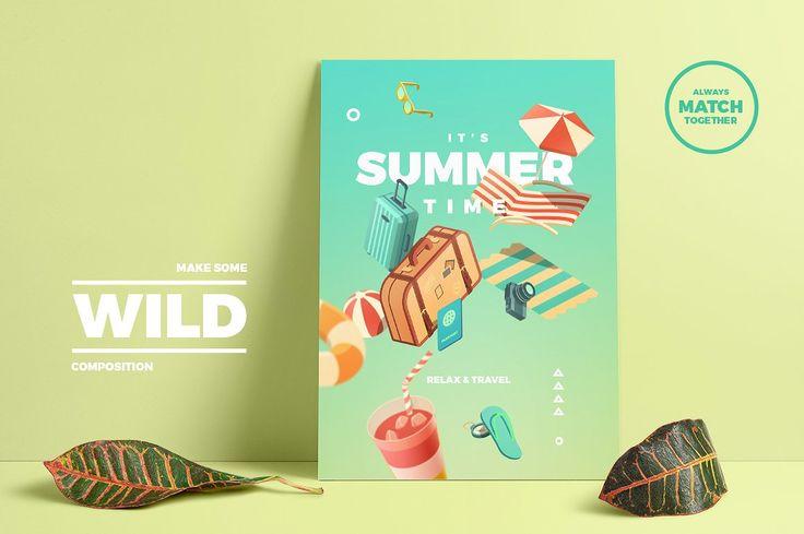 Set of Summer Equipment by blauananas on @creativemarket