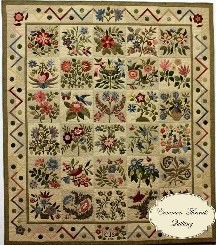 The Caswell Quilt - designed by Corliss Searcy, who published a pattern for Civil War Bride quilt applique quilt