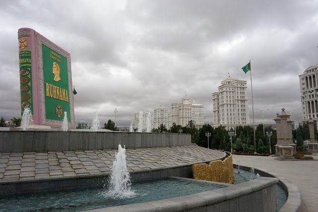 Ashgabat Turkmenistan Monument To Independence Ruhnama Monument Ashgabat Monument Turkmenistan