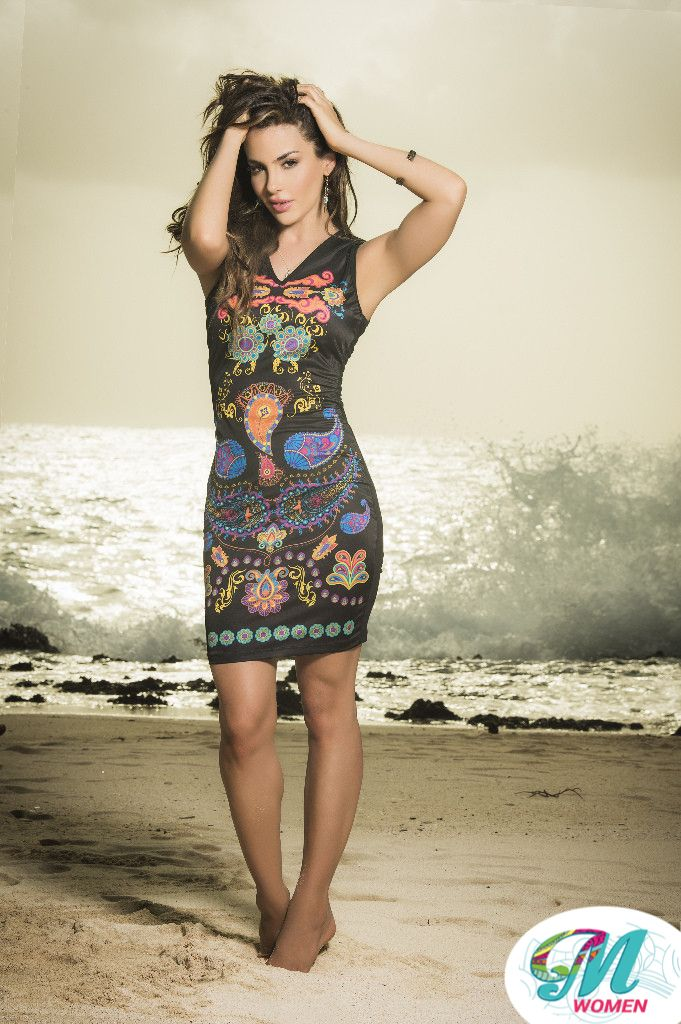 Paisley power! A Bohemian print in vibrant tones makes this slinky sheath dress one everyone will notice. $20.00