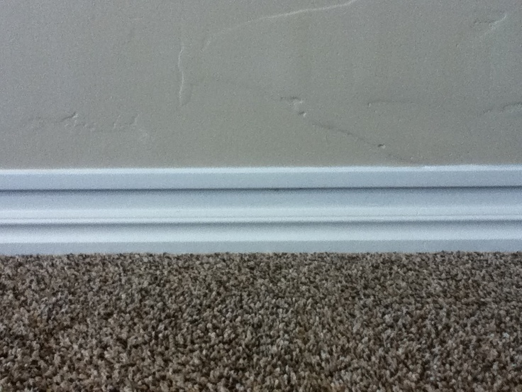 Added trim to baseboards to make them look taller