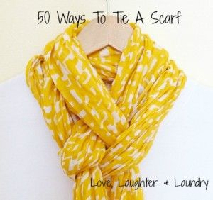 50 ways to tie a scarf