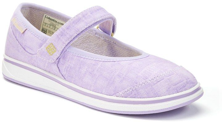 Columbia Kylie Girls Mary Jane Shoes Size 7 Drk Purple Mary
