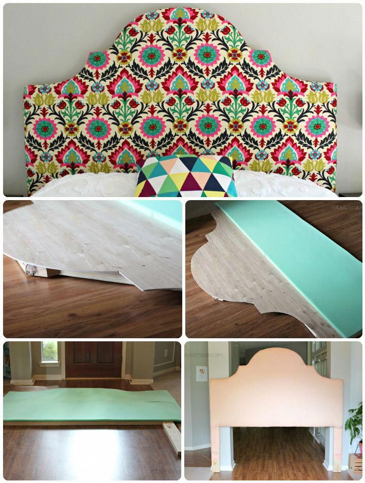 Handmade tufted and fabric covered curvy headboard - 78 ...
