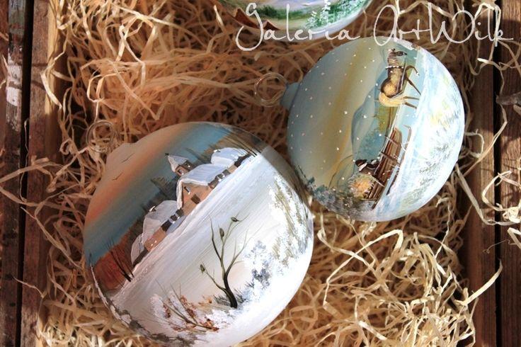 Hand painted glass balls