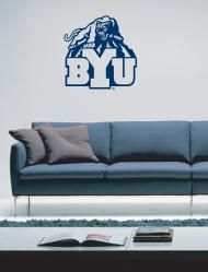cougar with byu vinyl sticker decal on wall