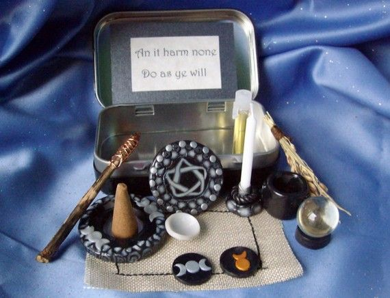 Made to order Pocket Travel Altar by TheWhimsicalPixie11 on Etsy