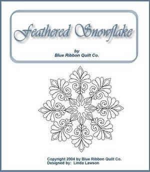 Digital Quilting Design Feathered Snowflake by Linda Lawson.