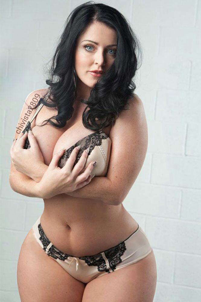 Curvy and busty latina