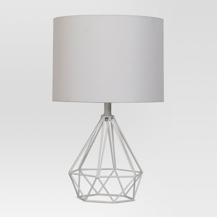Entenza Wire Table Lamp Includes Cfl Bulb White Project 62 Table Lamp Lamp Geometric Table Lamp