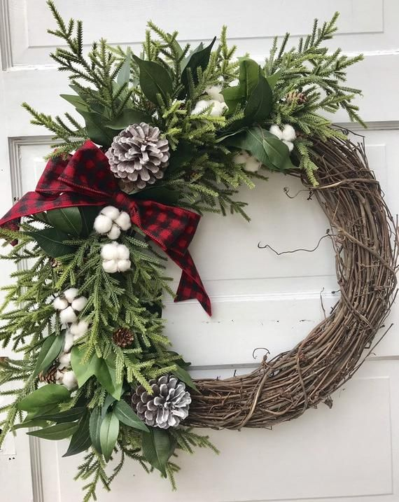 Sale Wreath Winter Wreath For Front Door Farmhouse Wreath