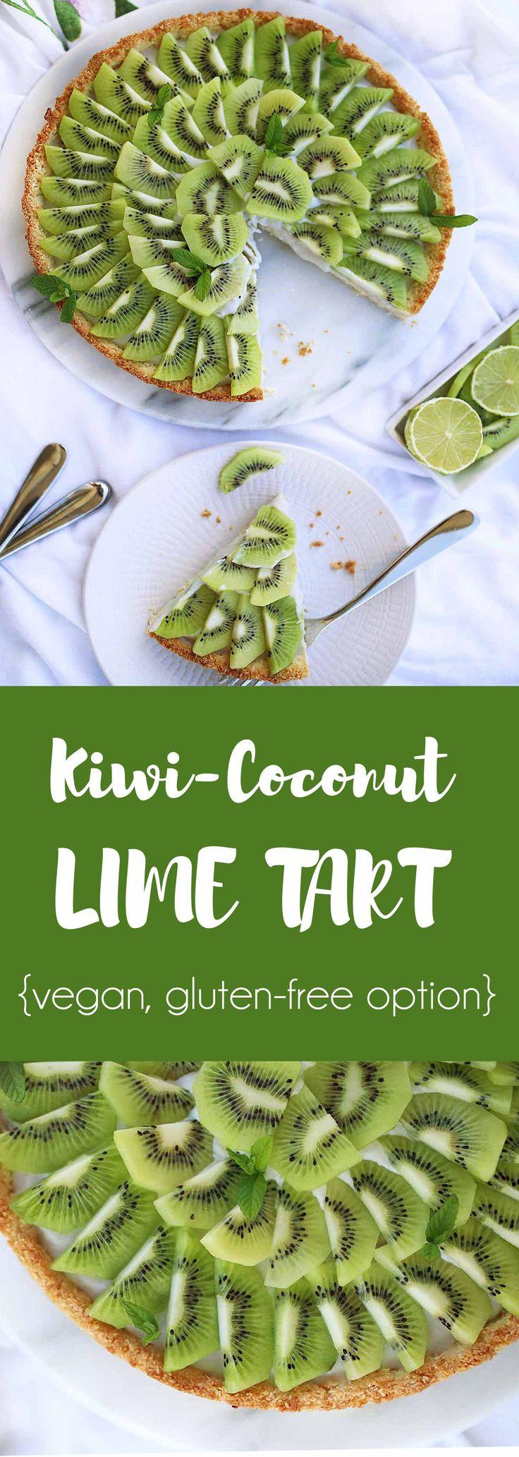 Refreshing Kiwi Coconut Tart