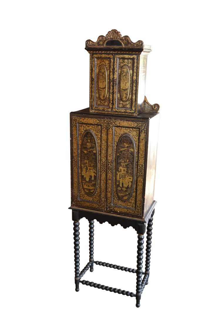 Antique English Jewelry Cabinet