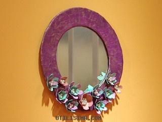 Manualidades y Artesanías | Marco con flores de cartón | Utilisima.com  video