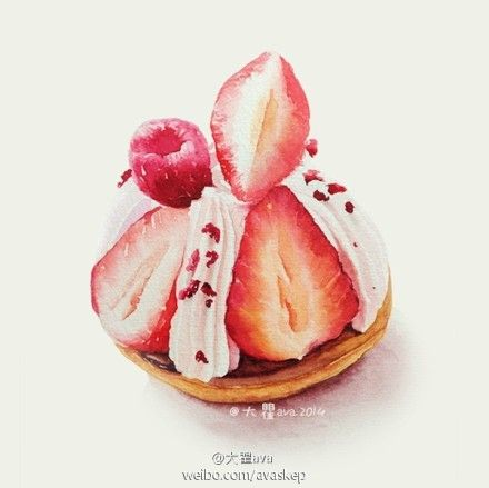 illustration watercolor sweets