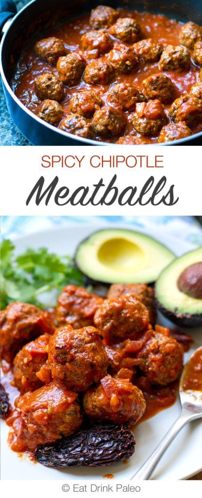 Finger Lickin' Spicy Chipotle Meatballs | Paleo & Gluten-Free| http://eatdrinkpaleo.com.au/spicy-chipotle-meatballs-recipe/